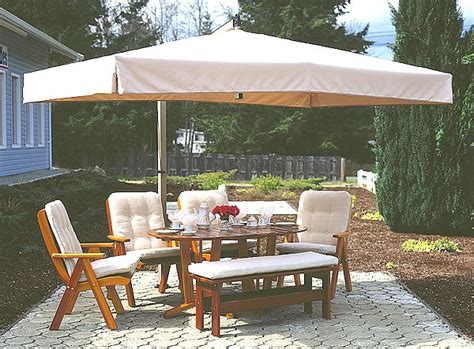 Patio Dining Set On Patio Umbrella And Inspiration Large Rectangular Patio Umbrellas