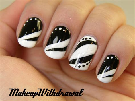 black and white pattern nails 25 unique black and white nail art designs 2015