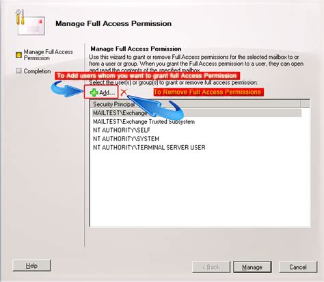 room mailbox permissions assigning access permission rights for exchange 2010 mailboxes
