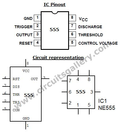 bc547 transistor frequency 555 timer ic audio lifier circuit schematics electronics circuits