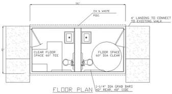 ada bathroom floor plans alan pre fab building custom modular buildings since 1966