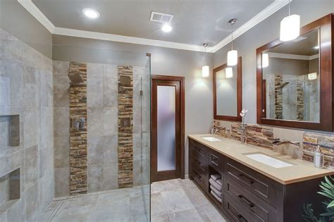 contemporary master bathroom contemporary master bathroom with daltile stacked stone