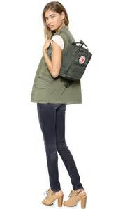 Fjallraven kanken mini backpack forest green in green forest green