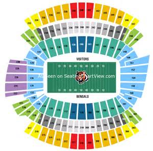 stadium seat map paul brown stadium cincinnati oh seating chart view
