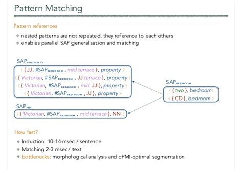 pattern matching linux sae structured aspect extraction