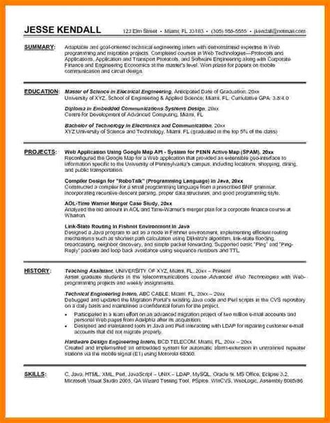 biomedical engineering resume sles 5 engineering intern resume ledger review