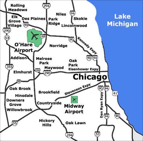 chicago midway map chicago limo services ord o hare airport transportation
