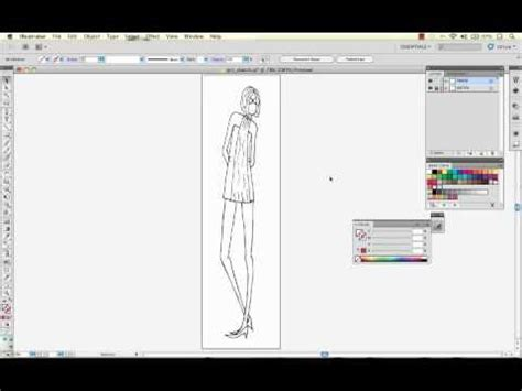 sketchbook pro convert to vector convert a fashion sketch to vector with