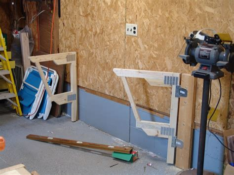 fold out work bench make a cheap fold down workbench