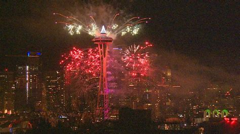 new years space needle ring in the new year with fireworks at the space