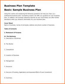 Business Plan Template Outline 8 Examples Business Plan Outline Bussines Proposal 2017