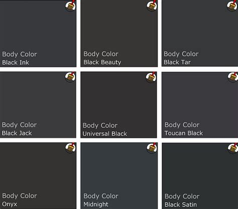 plus black suede paint colors