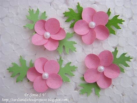 Flower Handmade - cards crafts projects paper flower tutorials 14