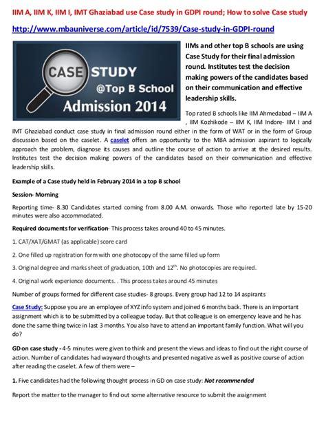 How To Solve Marketing Study In Mba iim a iim k iim i imt ghaziabad use study in gdpi