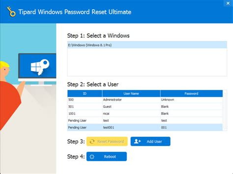 windows password reset guide how to use tipard windows password reset