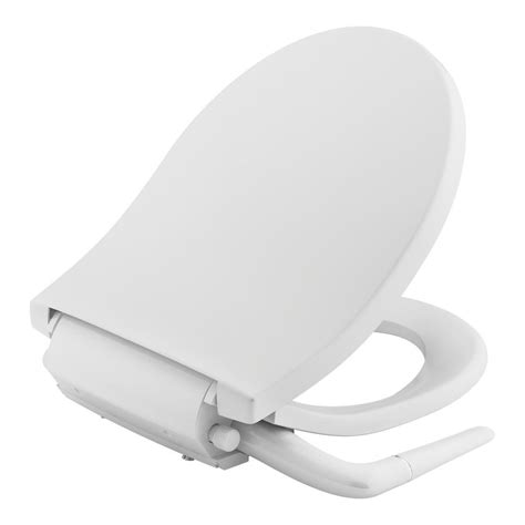 Non Electric Bidet Toilet Seat Reviews kohler puretide non electric bidet seat for toilets in white k 76923 0 the home depot