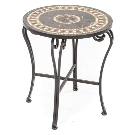 mosaic accent table gibraltar mosaic side table patio accent tables at hayneedle