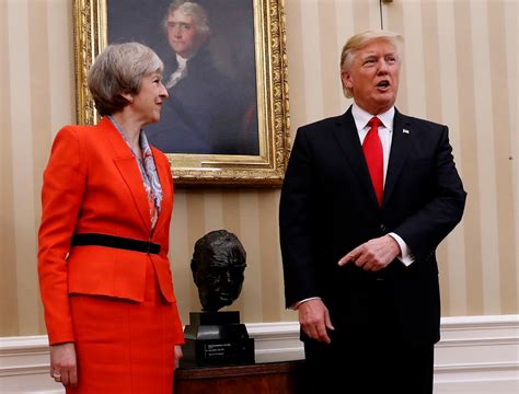 trump oval trump and britain s theresa may meet for first time wjla