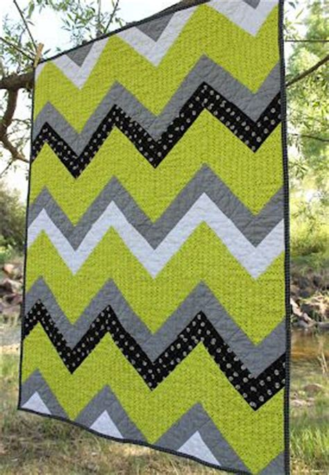 Chevron Stripe Quilt Pattern by Stitchery Dickory Dock Quilts Chevron Stripe In Lime