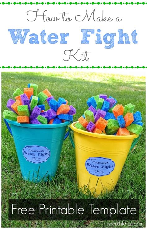 Make a water fight kit inner child fun
