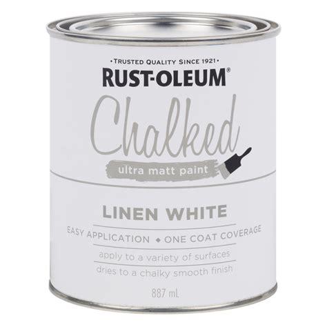 rust oleum 887ml linen white chalked ultra matt paint bunnings warehouse
