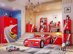 Red And Blue Childrens Bedroom » New Home Design