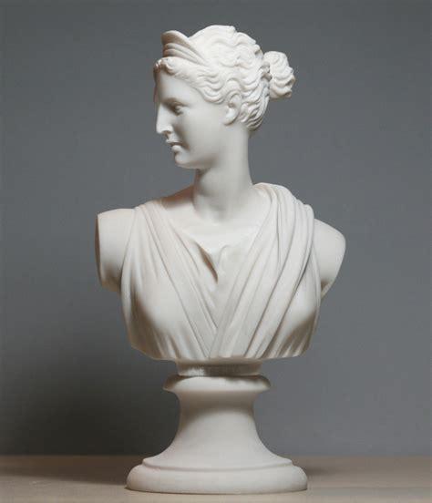 Handmade Sculptures - artemis diana bust goddess statue