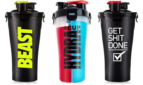 Shaker Hydracup hydra cup supplement shaker bottle 2 pack groupon