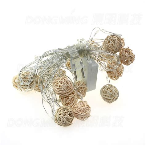 novelty big size 20 ball 5m led string lights white wire