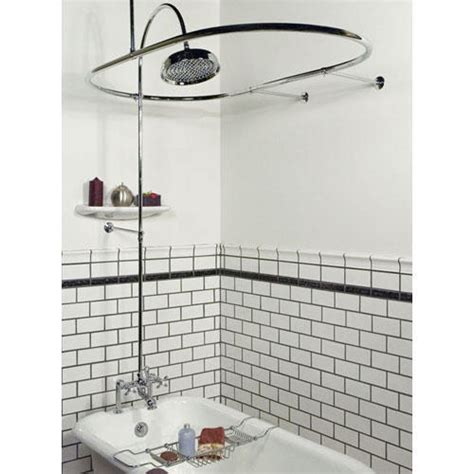 claw bathtub shower clawfoot tub shower diverter faucet curtain rod combo