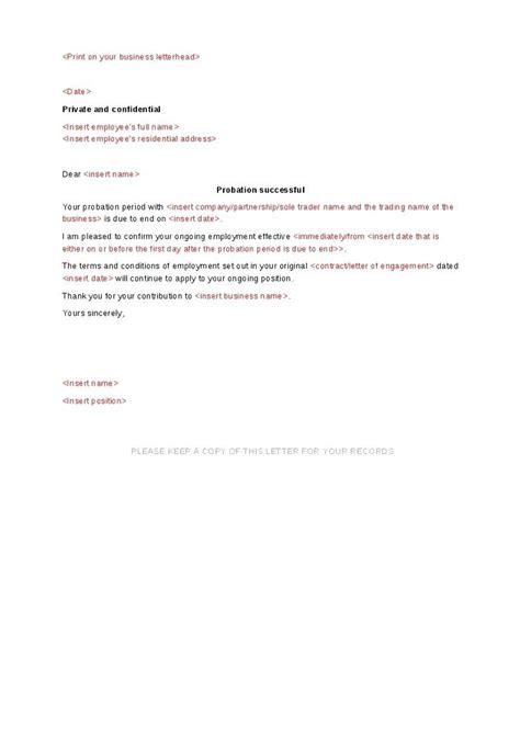 employment probation letter template probation letter template tangledbeard
