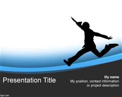 running track powerpoint template free powerpoint templates