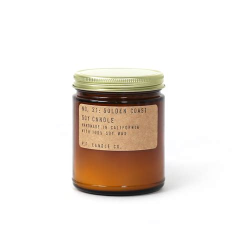 Soy Candles golden coast soy candle by p f candle co from period home style