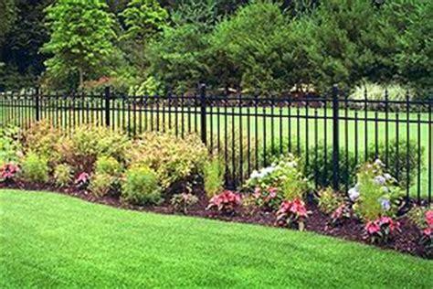 Landscape Ideas Around Fence Landscape Around Fence Garden Yard