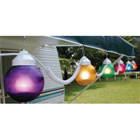 rv outdoor lights polymer products 110v multicolored string globe lights 6