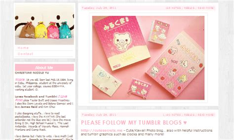 cute kawaii themes tumblr cute secrets theme 40 preview get code