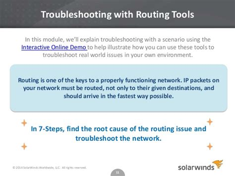 routing rules troubleshoot network problems with routing rules