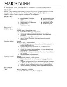 Bookkeeper Sle Resume by Cpa Senior Auditor Resume