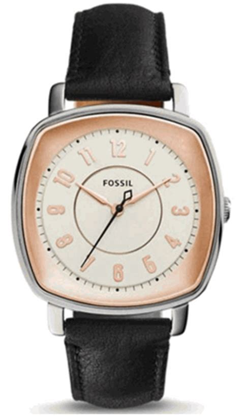 Fossil Es3998 Black s fossil idealist black leather es3998