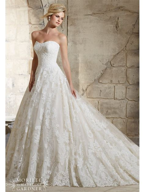 Weddingku Bridal by Mori 2787 Lace Gown Style Bridal Dress Light Gold