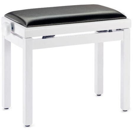 vinyl bench top stagg pb39 piano bench matt white black vinyl top keymusic