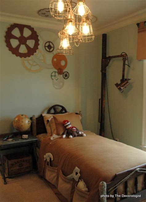 steam punk bedroom in the pink at the southern living showcase house tour