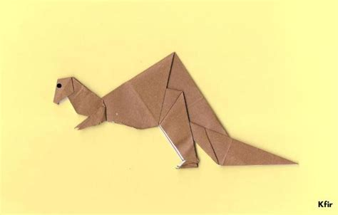 origami the way of the rex volume 1 books origami t rex by kfirzi on deviantart