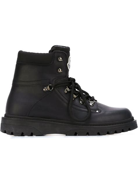 mens moncler boots moncler snow boots in black for lyst