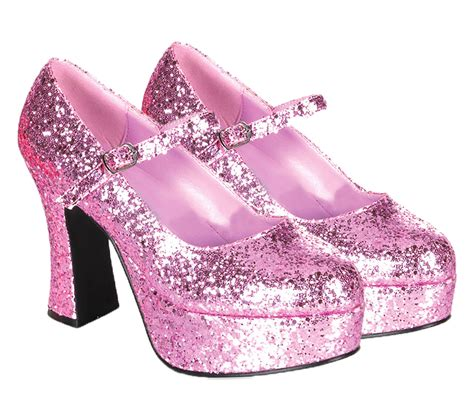 womens glitter pink shoes costume craze