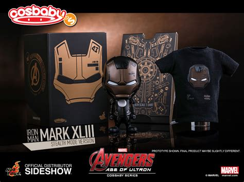 Toys Cosbaby Iron Xliii Stealth Mode marvel iron xliii stealth mode version collectible sideshow collectibles