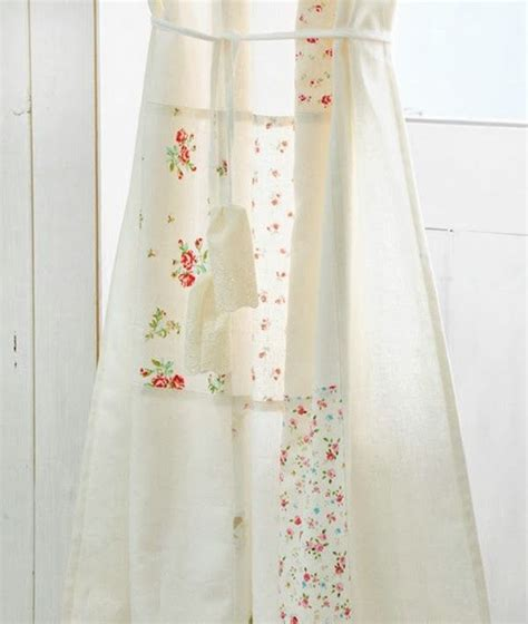 shabby chic patchwork curtain diy for the windows