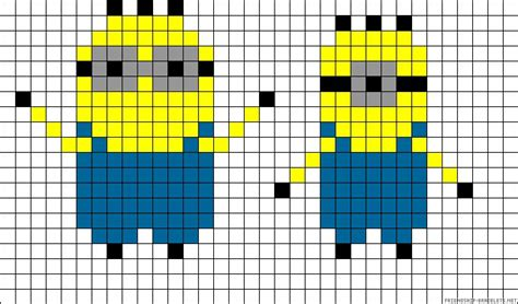 minion bead pattern minions perler bead pattern arts and crafts