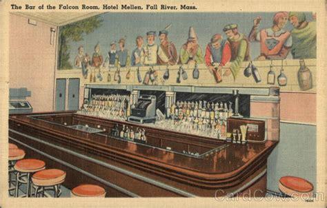 the river card room bar at the falcon room at hotel mellen fall river ma postcard