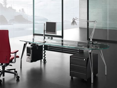 Modern Glass Office Desk Executive Modern Glass Desk Modern Glass Desk Office